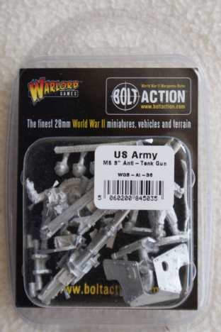 "Warlord Games 28mm WGB-AI-36 US Army 3"" AT Gun & Crew"